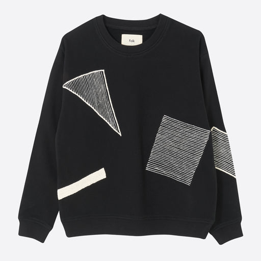 Folk Degree Sweatshirt in Black