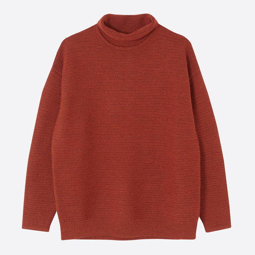 Folk Dream Funnel Knit in Rust
