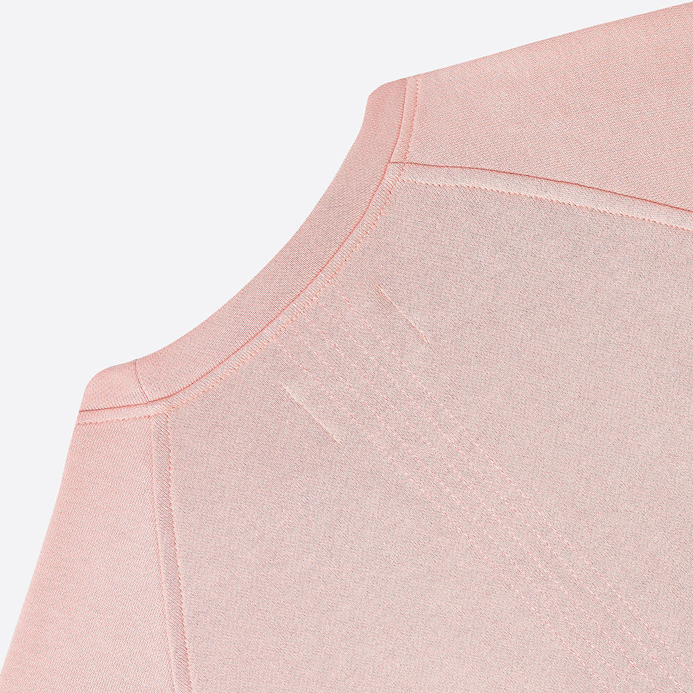 Folk Multi Stitch Sweat in Pale Pink