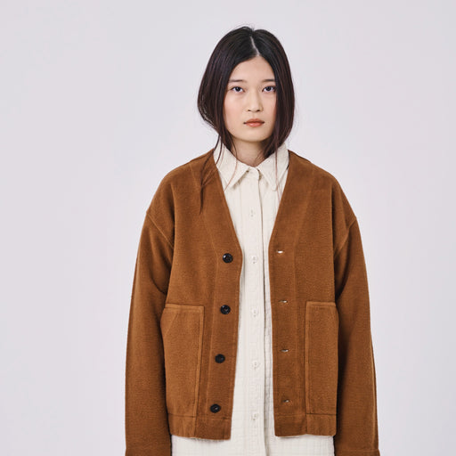 Girls of Dust American Fleece Cardi in Toffee