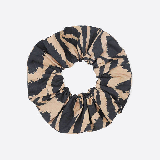 Ganni Cotton Tannin Scrunchie in Tiger