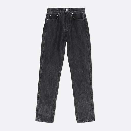 Ganni High Waisted Washed Denim Jeans in Phantom