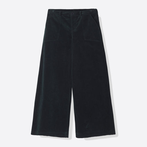 Ganni Ridgewood Wide Pants in Total Eclipse