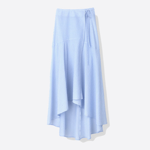 Ganni Charron Wrap Skirt in Serenity Blue