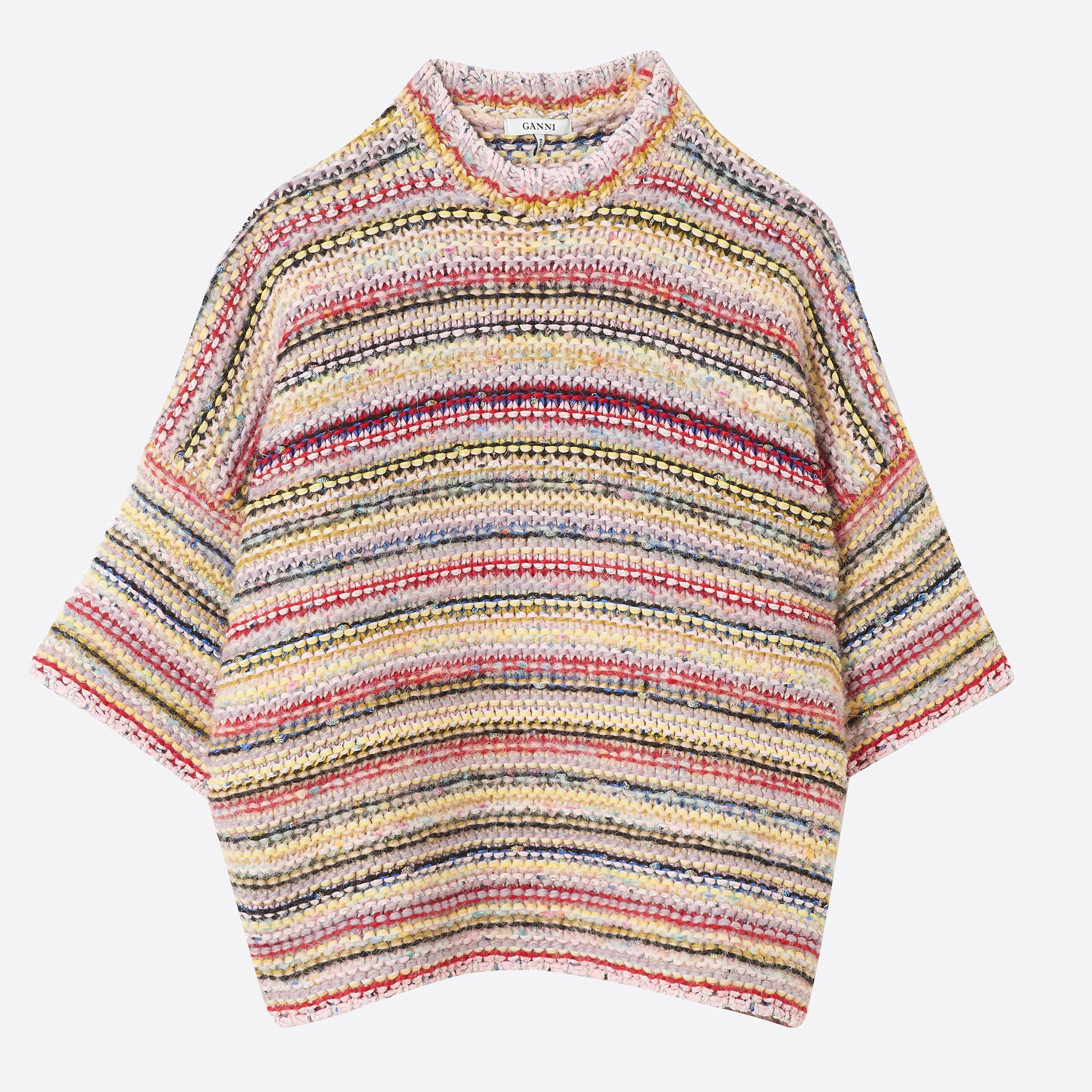 Ganni Brookhaven Mixed Knit Pullover in Multi