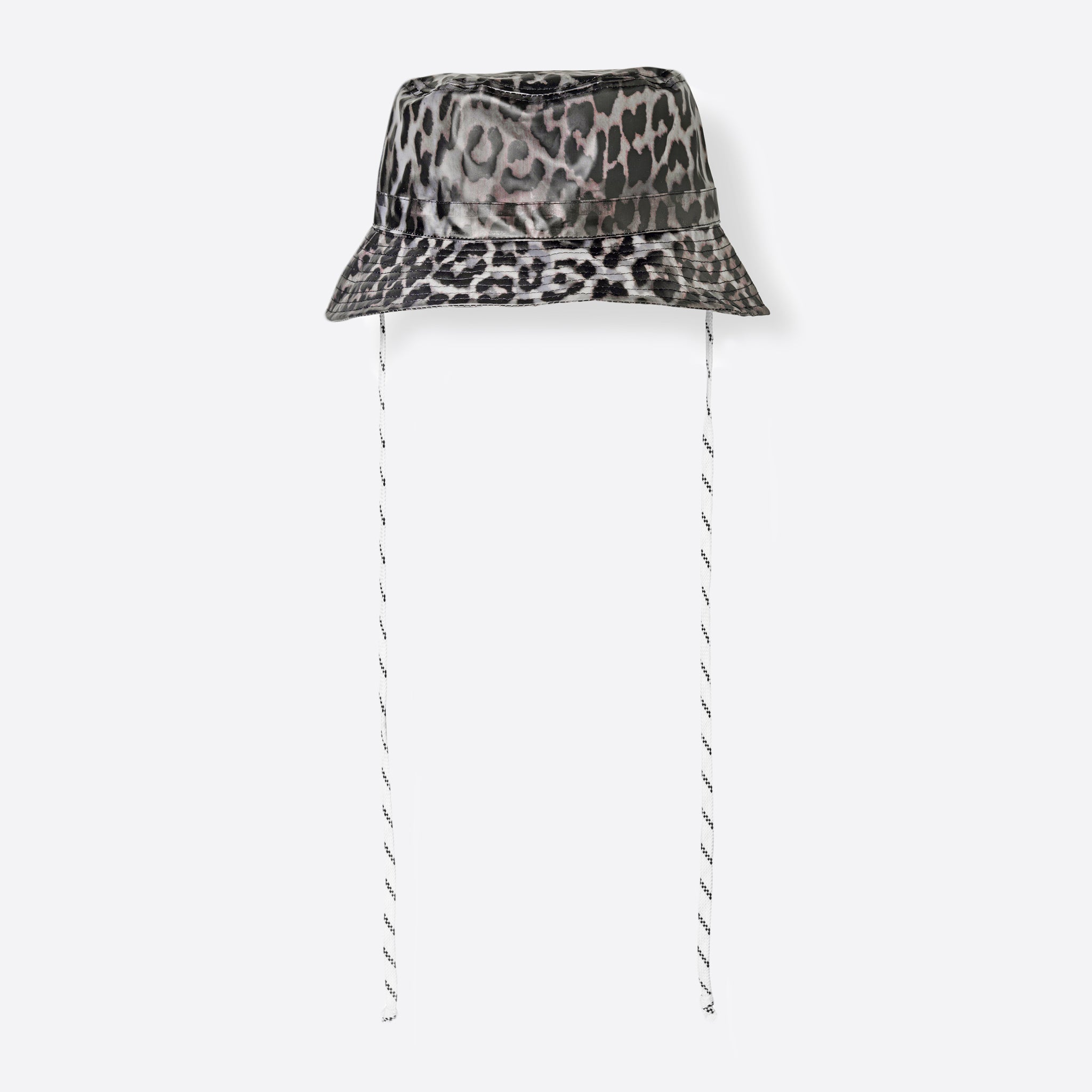 Ganni Cherry Blossom Hat in Leopard Print