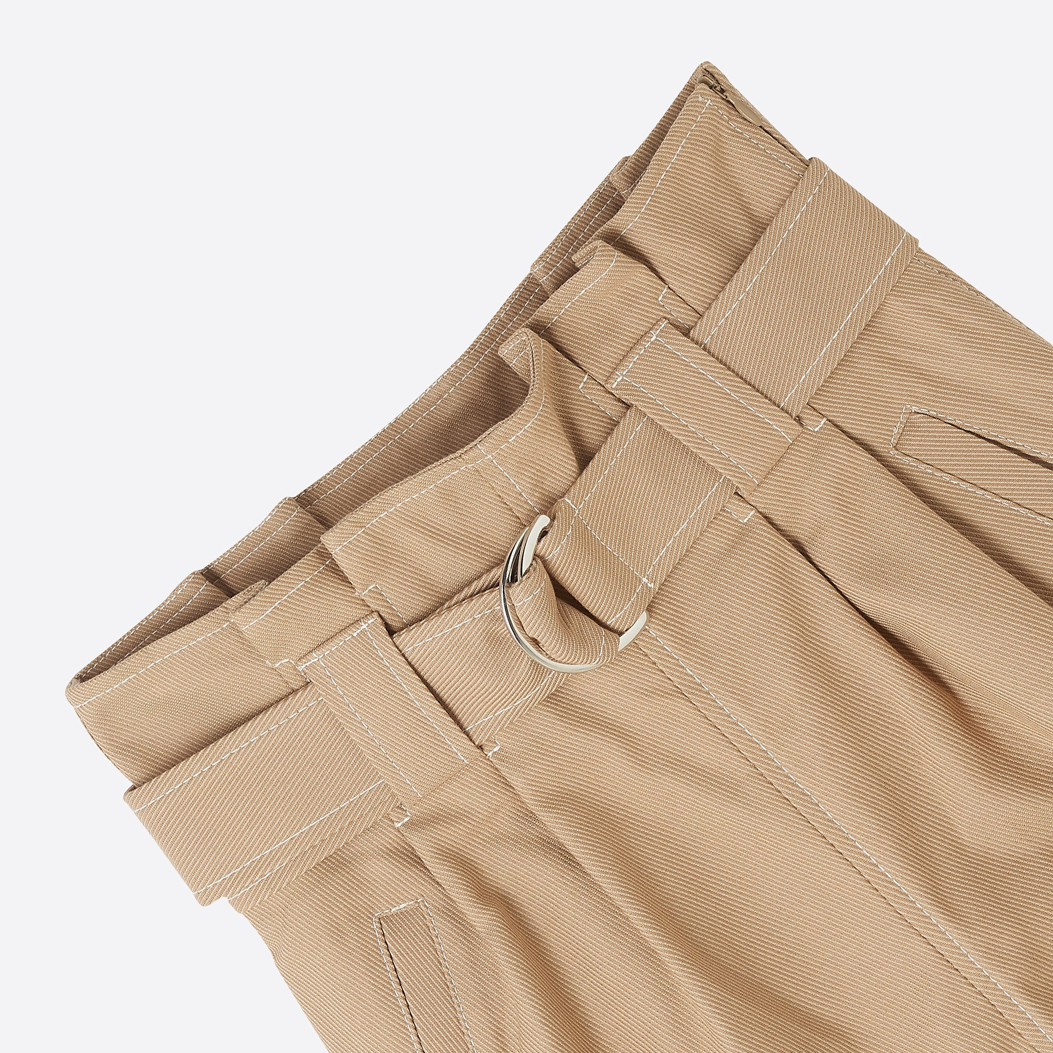 Ganni Chino Belt Pants in Tannin