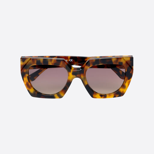 Ganni Double Layered Sunglasses in Tortoise
