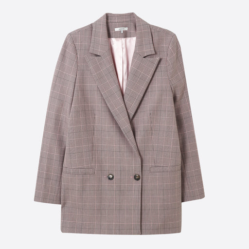 Ganni Hewitt Suiting Blazer in Silver Pink