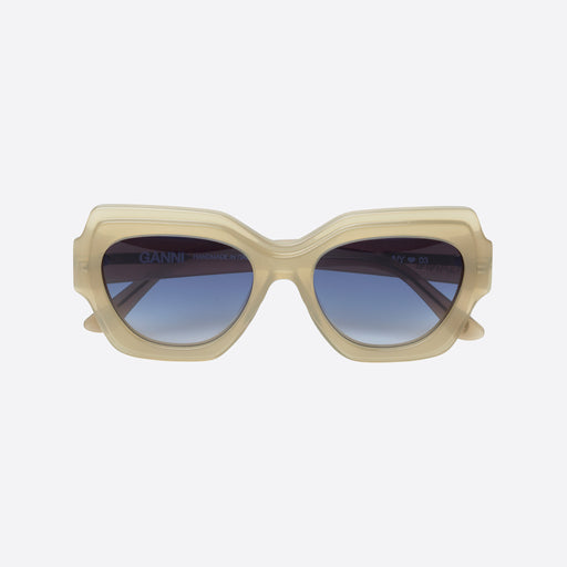 Ganni Square Sunglasses in Tapioca