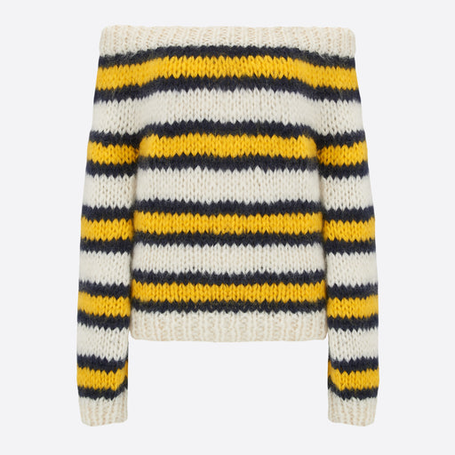 Ganni Julliard Mohair Knit in Stripe