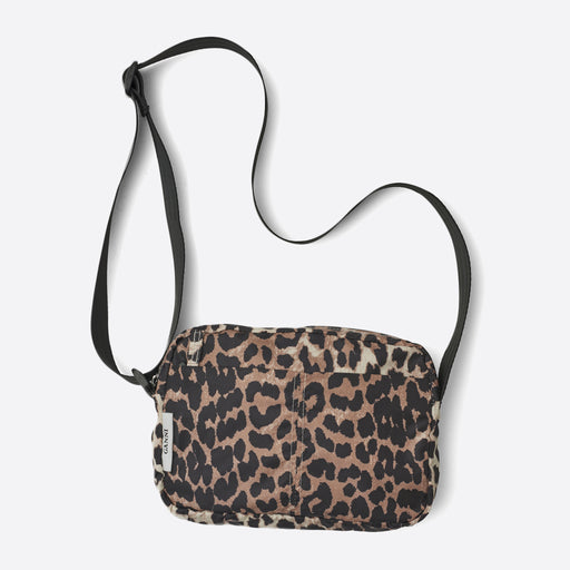 Ganni Fairmont Shoulder Bag in Leopard Print