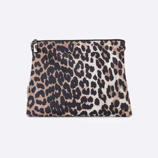 Ganni Fairmont Toiletry Case in Leopard Print