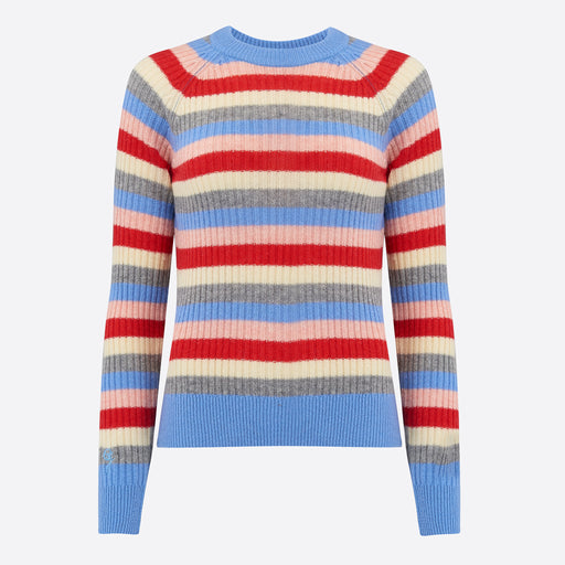 Ganni Mercer Pullover in Multicolour Stripe