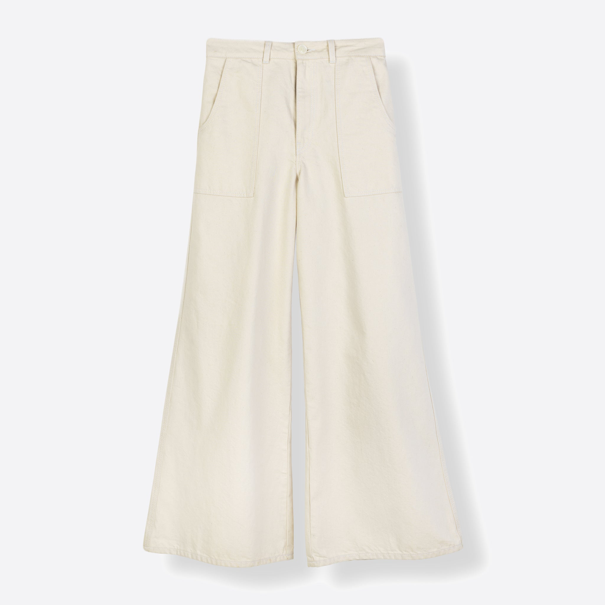 Ganni Bluebell Pants in Vanilla Ice