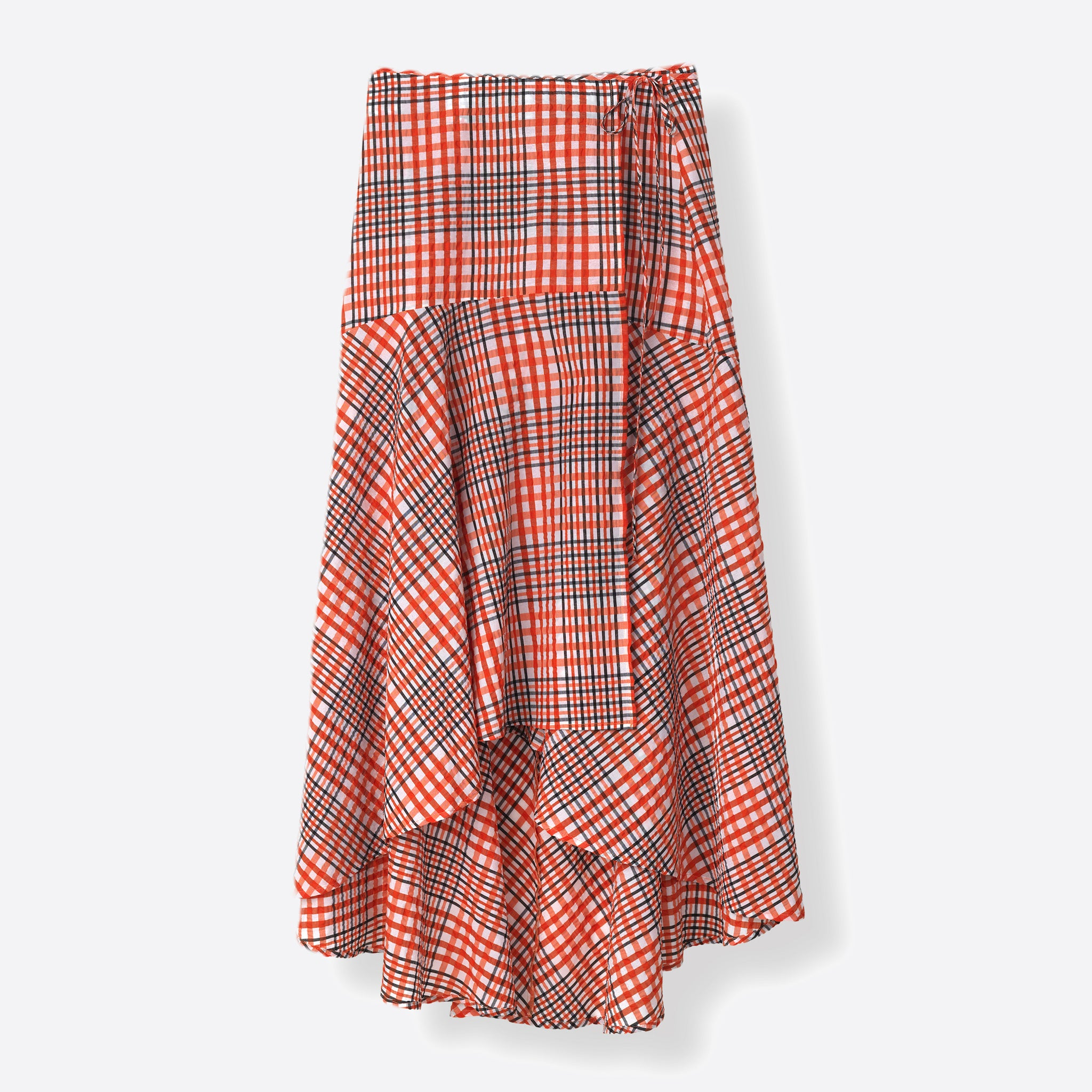 Ganni Charron Wrap Skirt in Big Apple Red