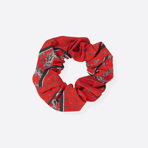 Ganni Faulkner Scrunchie in Fiery Red