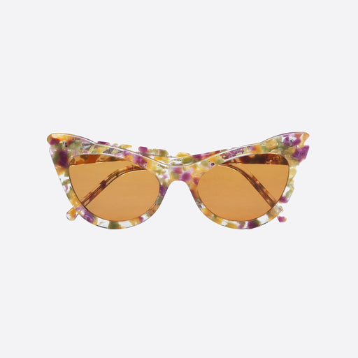 Ganni Cat-Eye Frame Sunglasses in Maize