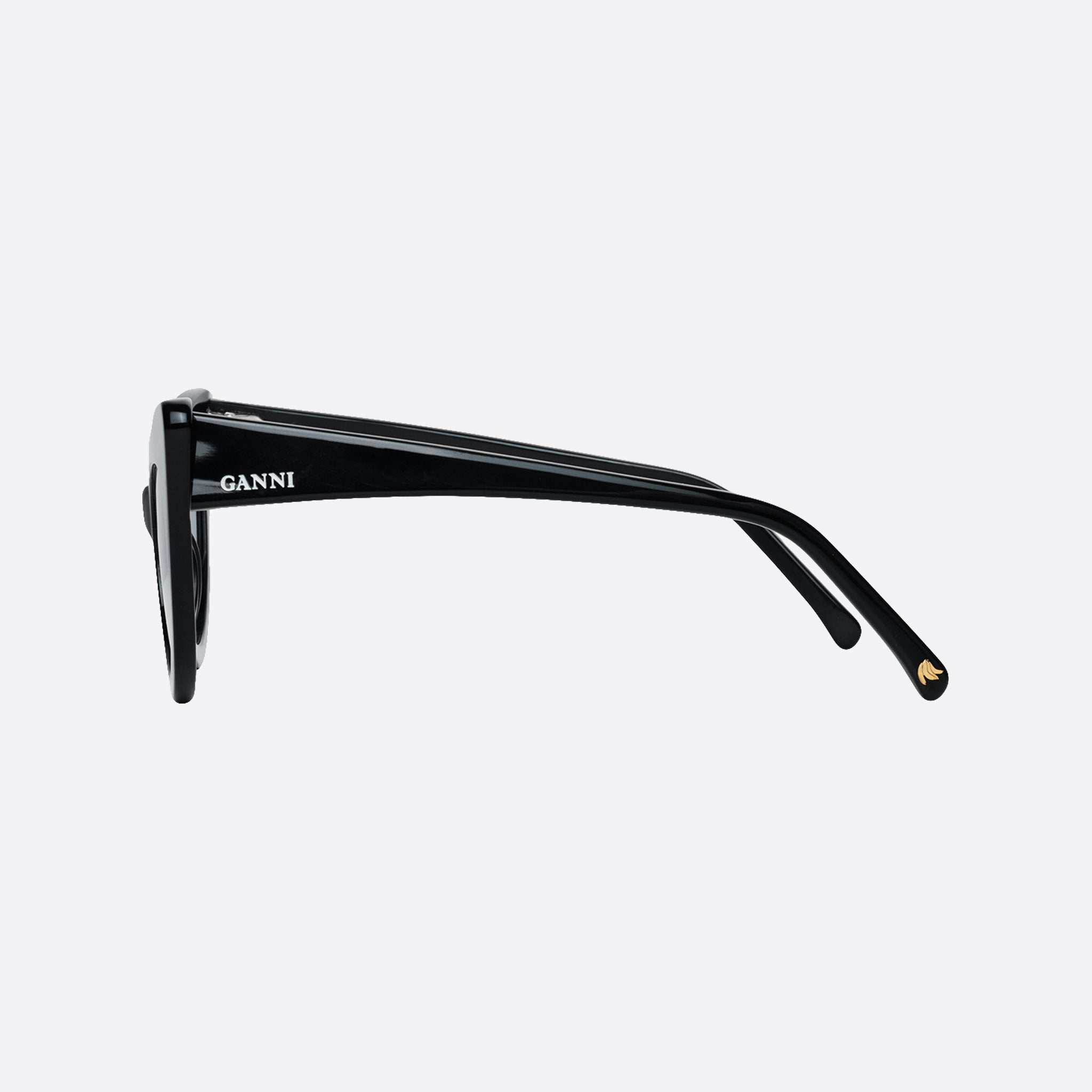 Ganni Lulu Sunglasses in Black