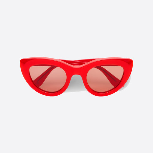 Ganni Mia Sunglasses in Fiery Red
