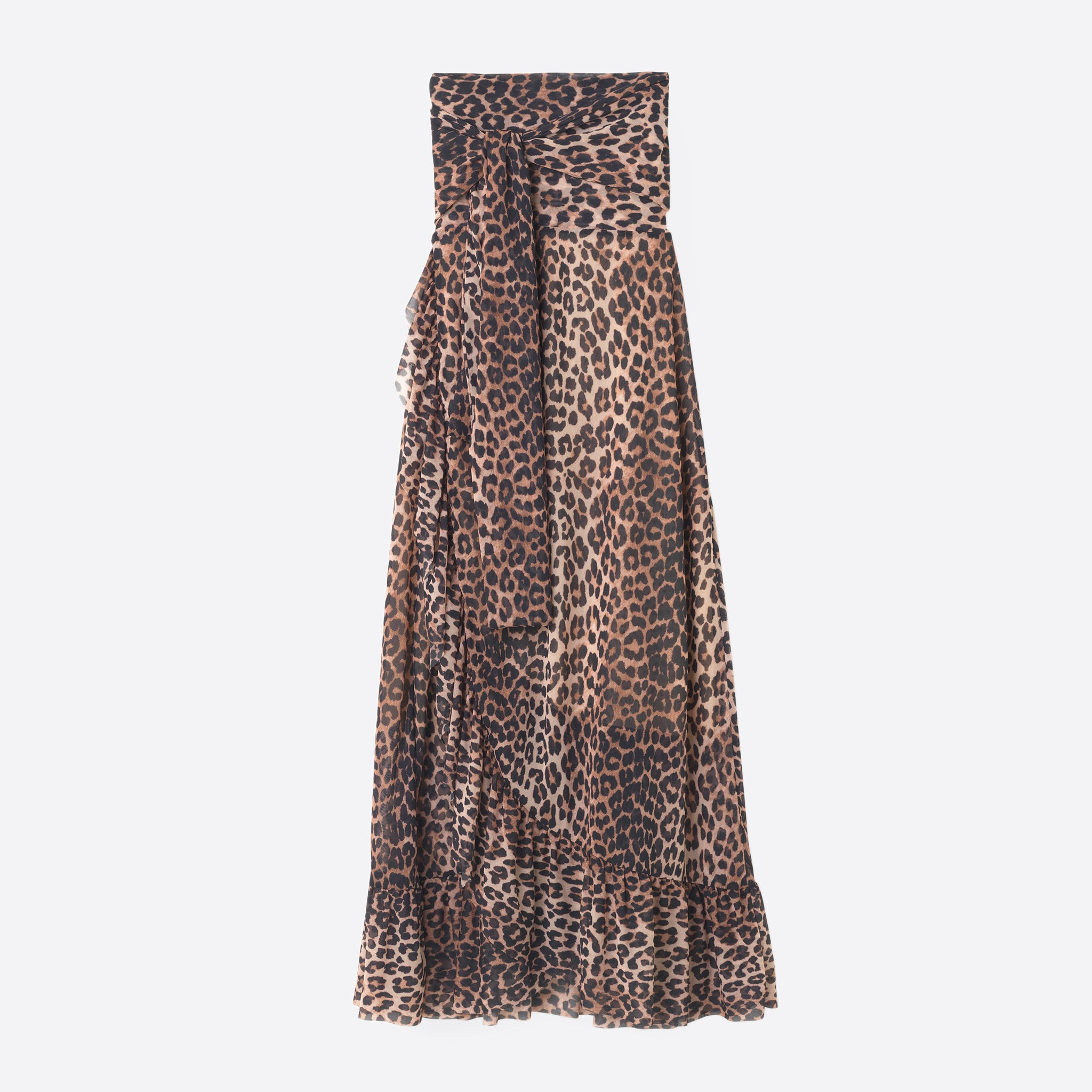 Ganni Tilden Mesh Skirt in Leopard