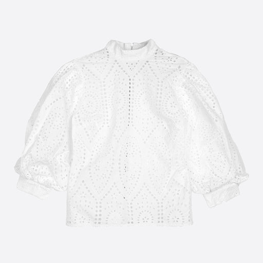 45c568c77c Ganni Falcon Blouse in Bright White Out of stock