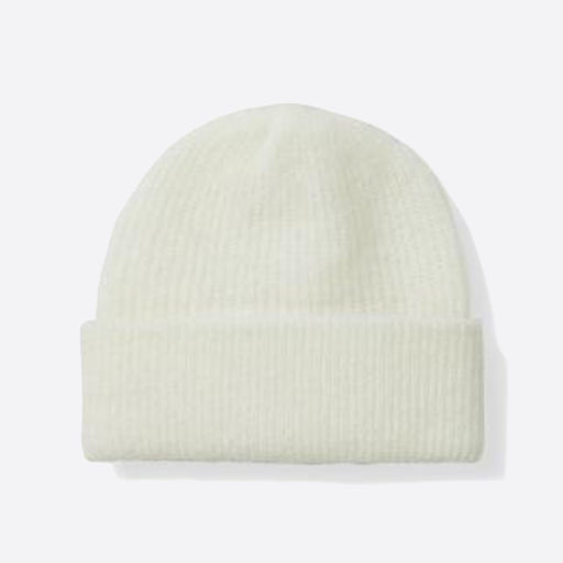 Ganni Callahan Soft Wool Knit Hat in Egret