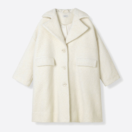 Ganni Fenn Oversized Coat in Egret