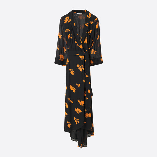 Ganni Fairfax Georgette Wrap Dress