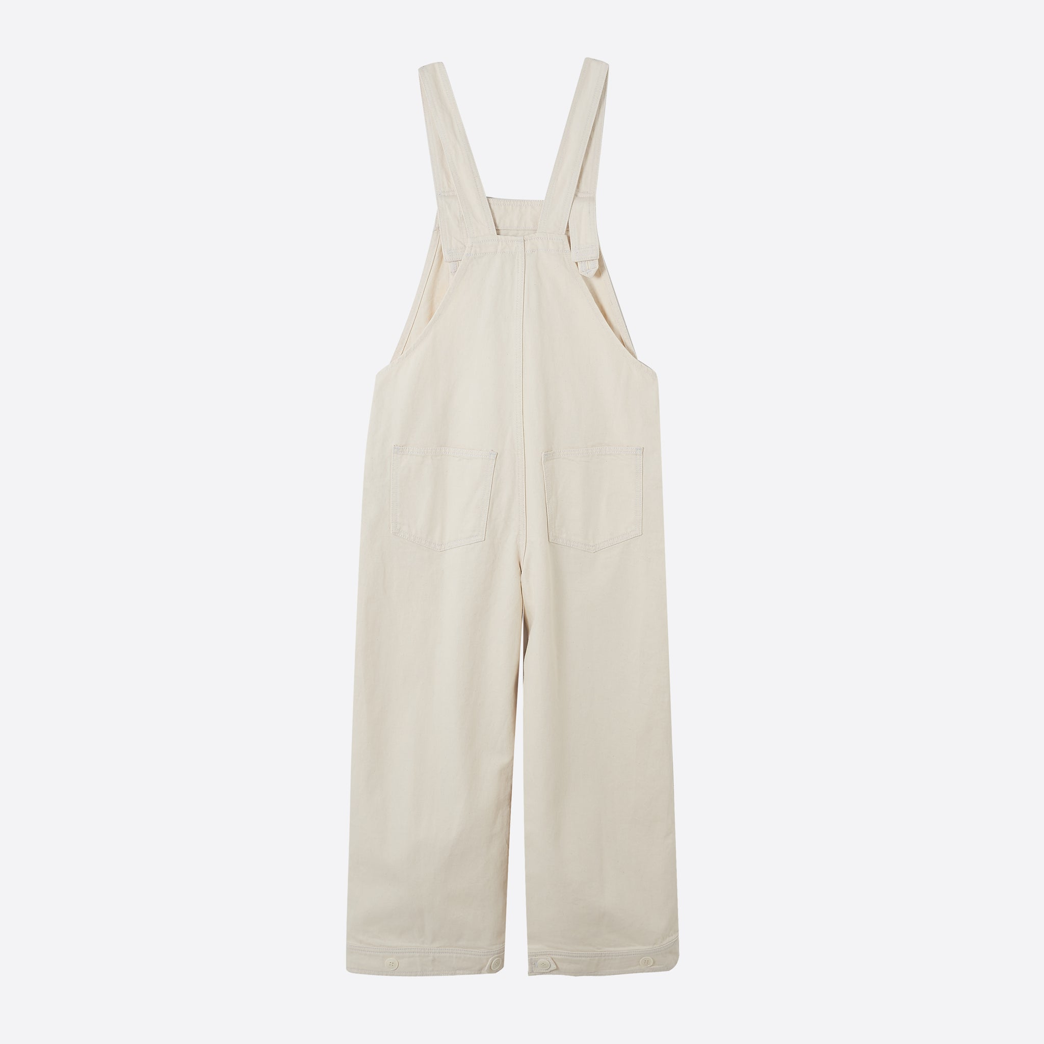 Ganni Bluebell Dungaree in Vanilla Ice