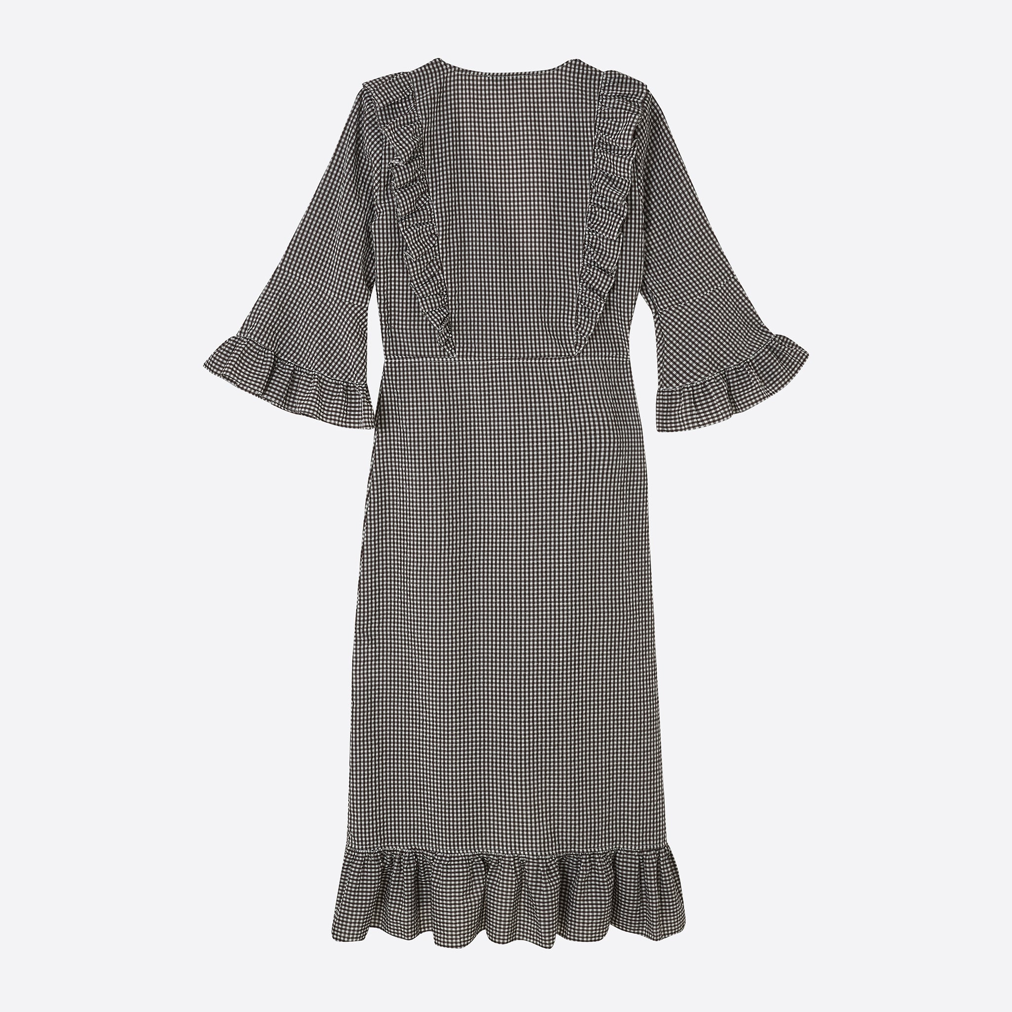 Ganni Charron Wrap Dress in Ganache