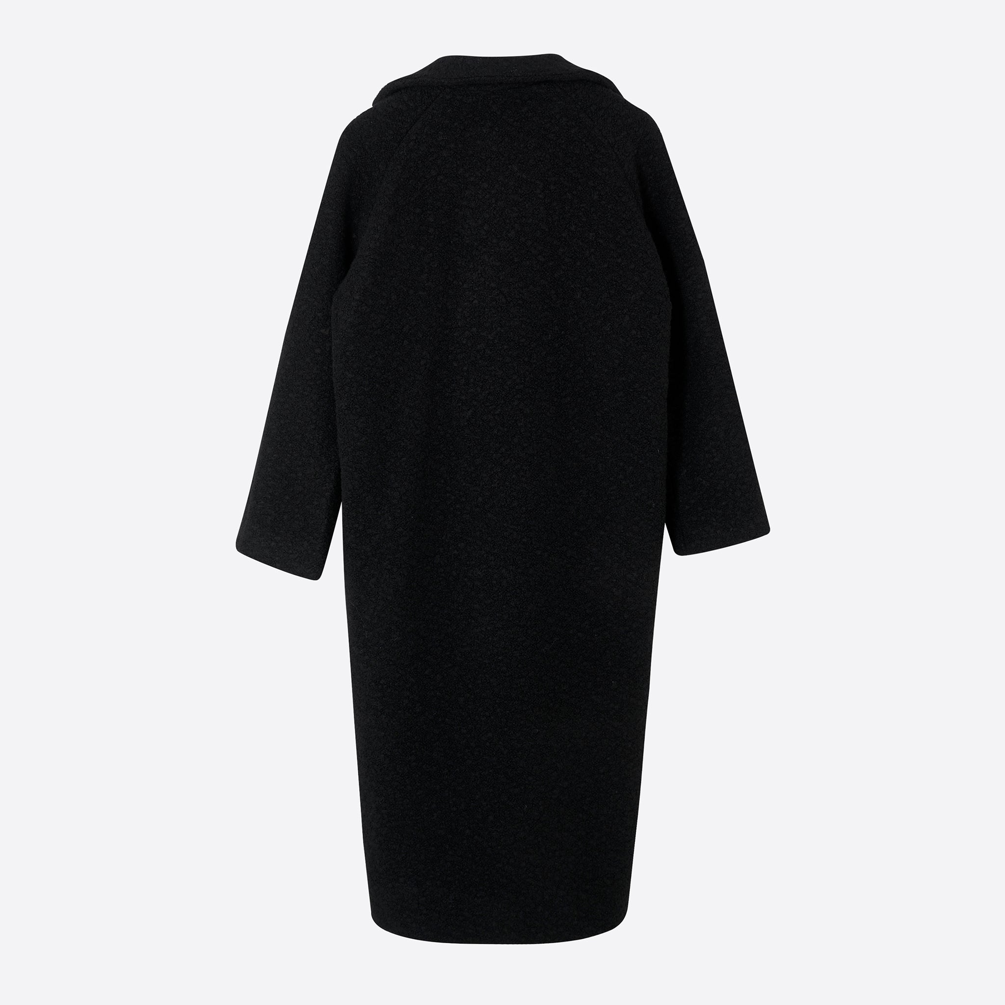 Ganni Fenn Long Wrap Coat in Black