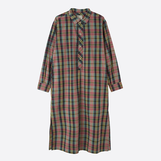 Girls of Dust Chemise Madras Dress in Multicolour Check