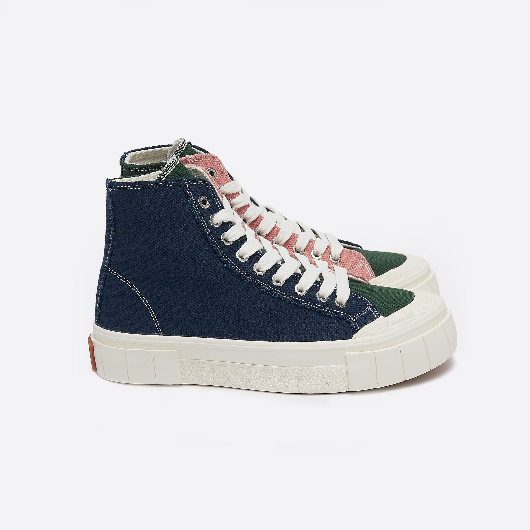 Good News Palm in Navy/Green/Pink