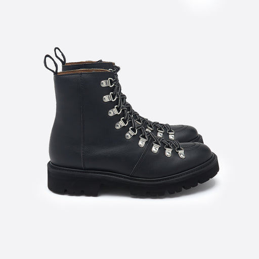 Grenson Nanette Boots in Black Grain Vegan Leather