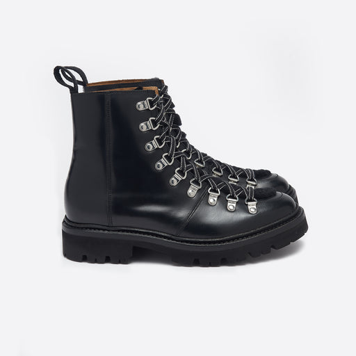 Grenson Nanette Boots in Black Leather & Shearling