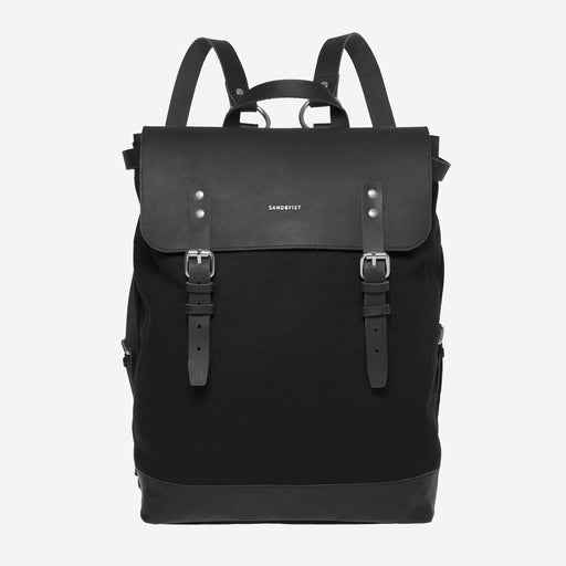 Sandqvist Hege Black Leather Rucksack