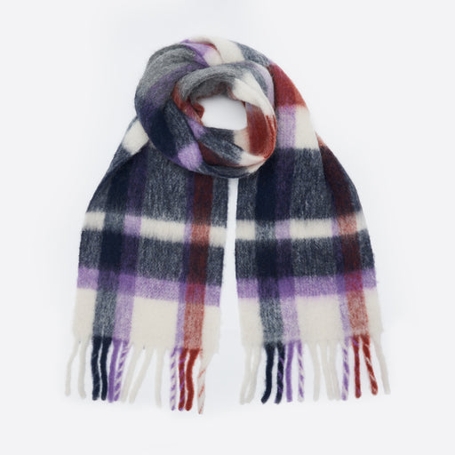 Holzweiler Aster Check Scarf in Tin
