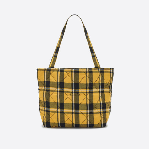 Holzweiler Small Hanger Tote in Yellow Check