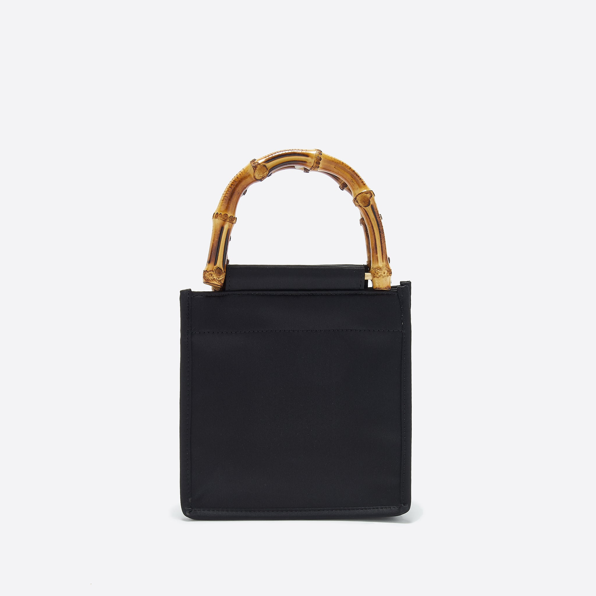 Home Of Hai Bamboo Bag in Black