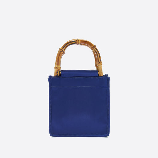 Home Of Hai Bamboo Bag in Navy