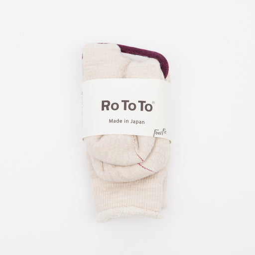 RoToTo Double Face Merino Socks Oatmeal