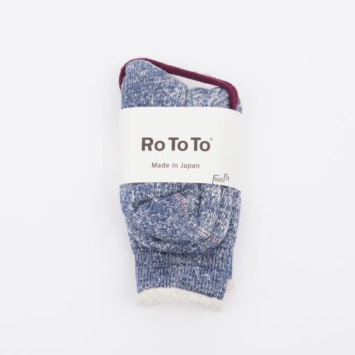 RoToTo Double Face Merino Socks Deep Ocean
