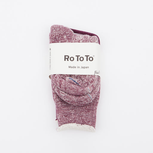 RoToTo Double Face Merino Socks Grape