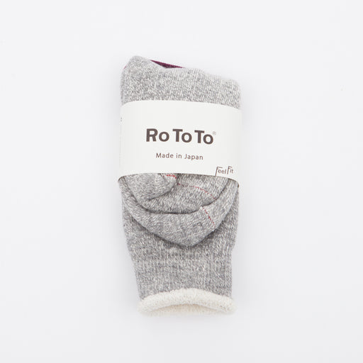 RoToTo Double Face Merino Socks Mid Grey