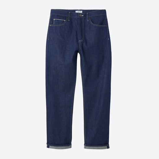 I AND ME Selvedge Slim Leg Jeans in Raw Indigo