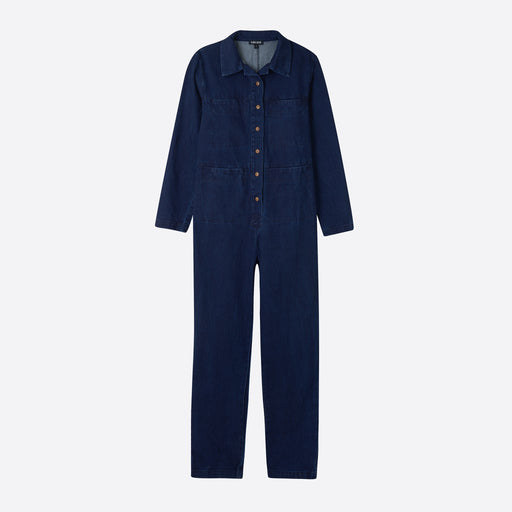 Ilana Kohn Tia Coverall in Indigo Denim