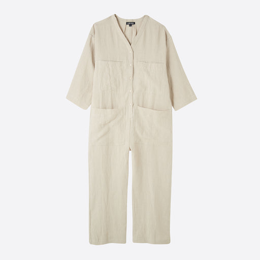 Ilana Kohn Tuck Coverall in Oat