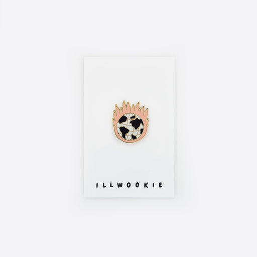 ILLWOOKIE Enamel Pin in Burning Earth