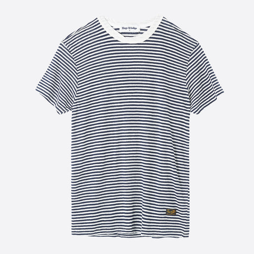 Kings of Indigo Darius Tee in Fine Stripe
